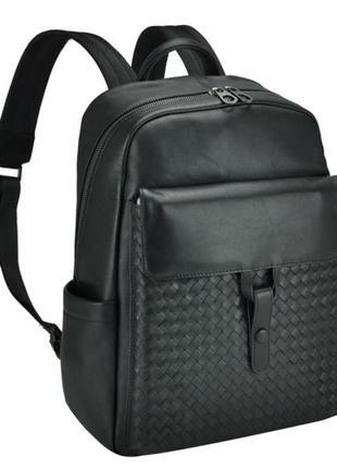 Стильный рюкзак кожаный мужской casual  дышащая спинка