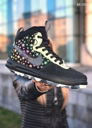 Nike LF1 DUCKBOOT 17 (черные/ звездочки)