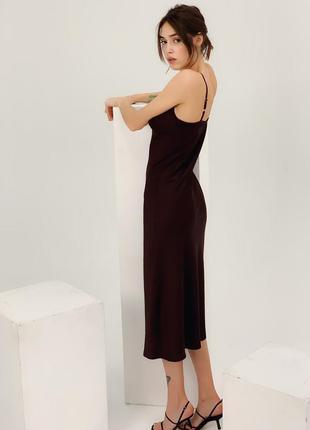 Миди платье в бельевом стиле