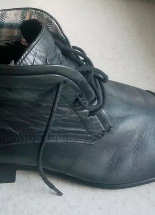 Кожаные мужские ботинки (Made in Portugal) размер 40