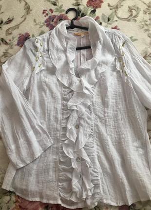 Стильная рубашка блуза xxl