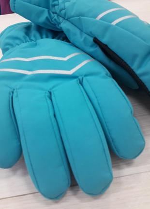 Непрокаемые детские детские перчатки для лыж и снежок на 6-12 лет