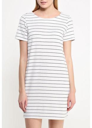 Платье футболка в полоску  h&m размер s