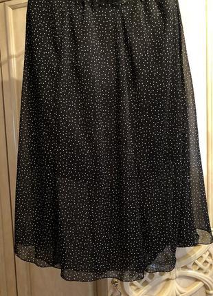 Летняя юбка в горошек