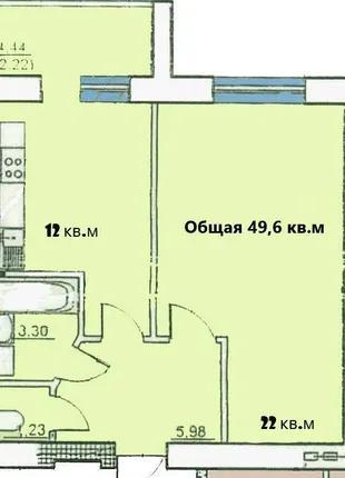 1к. квартира в кирпичном доме с видом на море