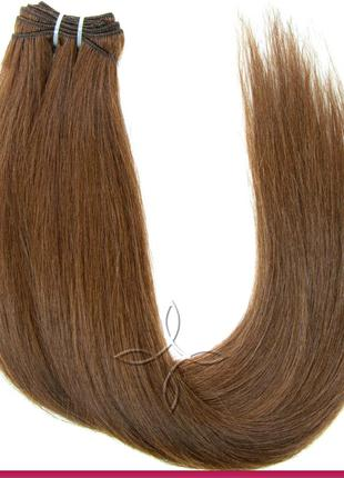 Волосы для Наращивания на Трессе 50 см 100 грамм, Шоколад №04