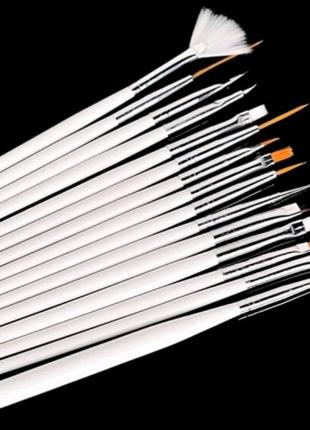 Набор кисточек для дизайна ногтей