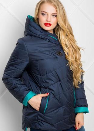 Красивая легкая куртка на весну-осень в больших размерах