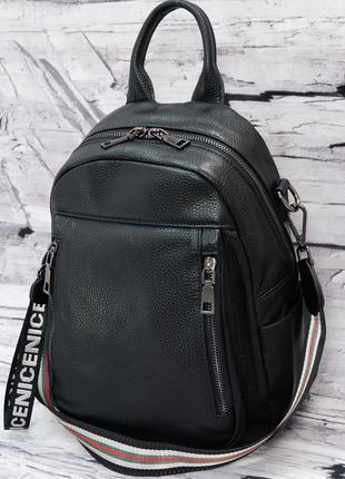 Женский кожаный рюкзак. Сумка кожаная. Рюкзак трансформер.
