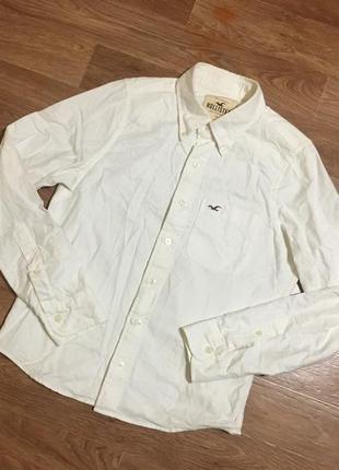 Суперовая плотная белая рубашка от hollister