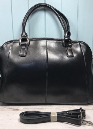 Женская кожаная сумка galanty на три отделения через плечо жін...