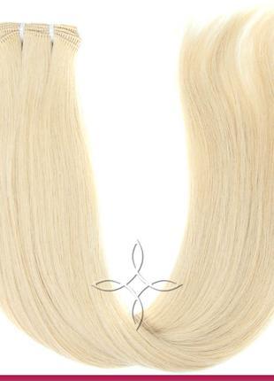 Волосы для Наращивания на Трессе 50 см 100 грамм, Блонд №22В