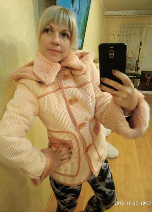 Пальто на меху вельвет