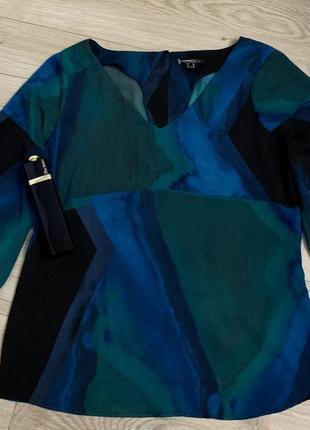 Блуза яркая бренд mexx синяя зелёная чёрная размер s