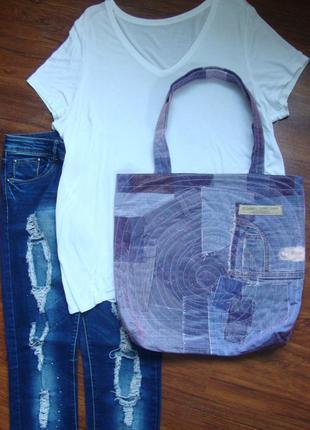 Джинсовая сумка разный джинс эксклюзив