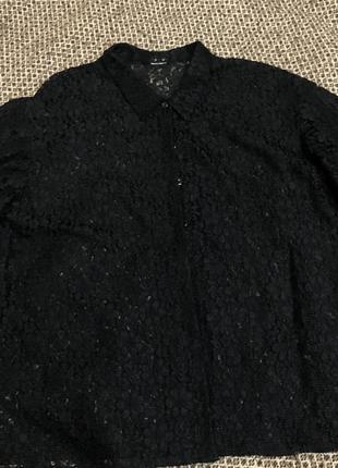 Нежная и очень красивая рубашка блуза гипюр,кружево ххл