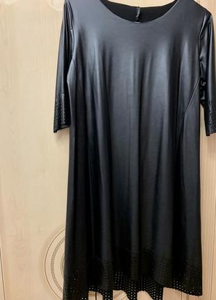 Шикарное платье из эко кожи размер м-л-хл