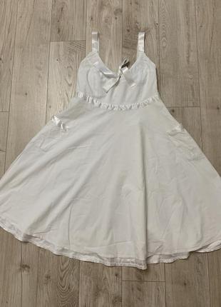 Белое платье сарафан размер с