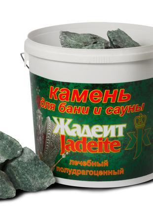 """Камень для бани и сауны """"Жадеит колотый 50-70 мм"""", 20 кг"""
