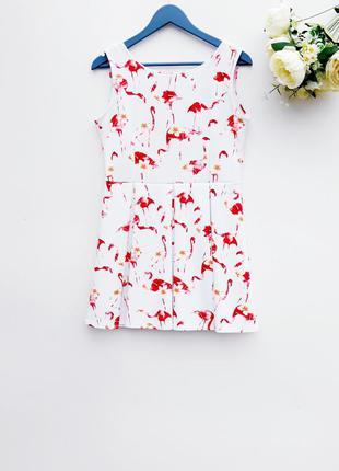 Красивое платье с фламинго платье в складки с плотной ткани