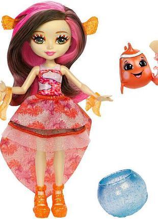 Набор из подводного мира Enchantimals кукла Рыба клоун  FKV56