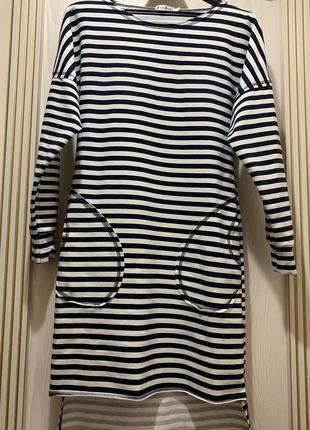 Платье полоска морской стиль размер с-м-л