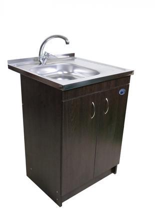 Кухонная мойка с тумбой 60 х 60см венге