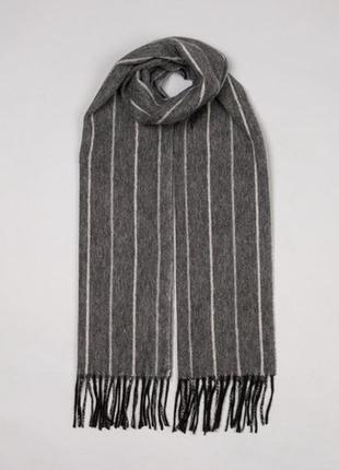 Мужской подарок кашемировый шарф шарфик, натуральный кашемир с...