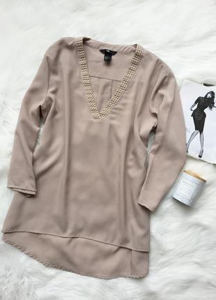 Блуза h&m, блуза, бежевая блуза