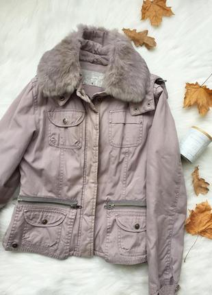 Куртка трансформер с натуральным мехом, куртка, натуральный ме...