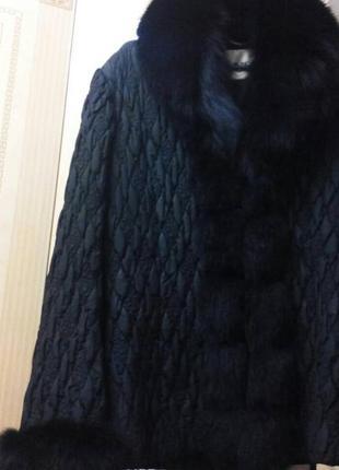 Теплая , зимняя куртка мех песец