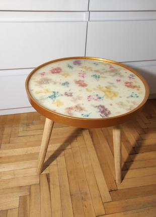 Кофейный столик дерево с эпоксидной смолой