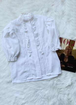 Стильная блуза, рубашка, сорочка, с рюшами, з рюшами, объемный...