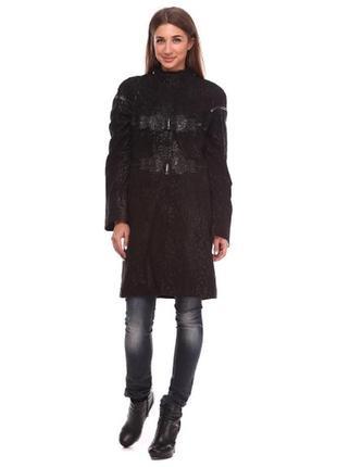 Плащ пальто кожаный размер л(46)