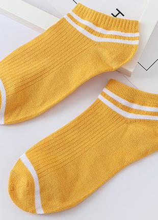 Носки, носочки, носки с полосками, с полосами, желтые, жовті, ...