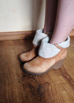 Кожаные теплые ботинки cropp town