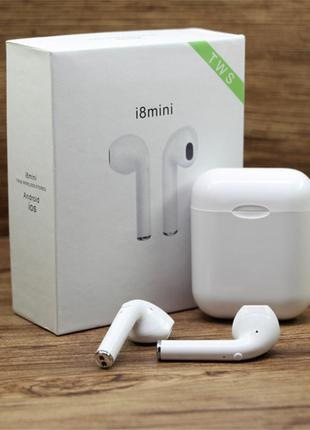 Беспроводные наушники i8 mini TWS с боксом для зарядки Bluetooth