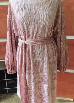 Шикарное бархатное велюровое платье 46-50