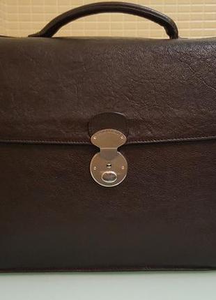 Деловой мужской кожаный портфель arthur&astor original