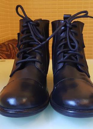 Брендовые кожаные ботинки jack&jones