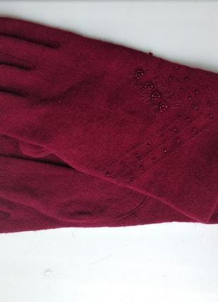 Перчатки италия цвет марсала бордо винный