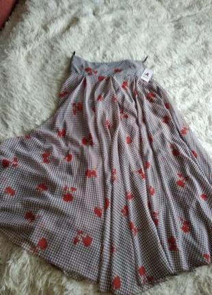 Шикарная шифоновая клешная юбка, размер 40