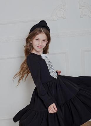 Платье детское, подростковое, школьное, черное