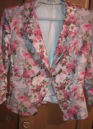 Пиджак весенней расцветки 46 размера