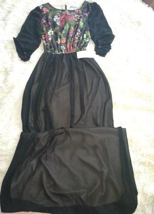 Шикарное выходное выпускное платье размер 46 burvin