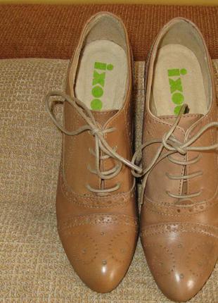 Модные женские туфли ixoo кожа