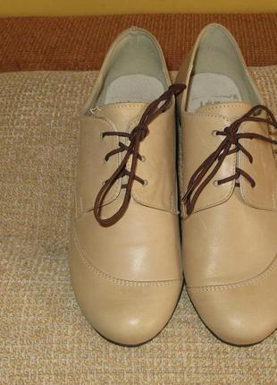 Модные женские туфли tanex кожа