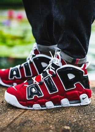 Кроссовки air more uptempo 96 red black