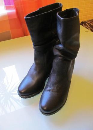 Удобные женские ботинки кожа