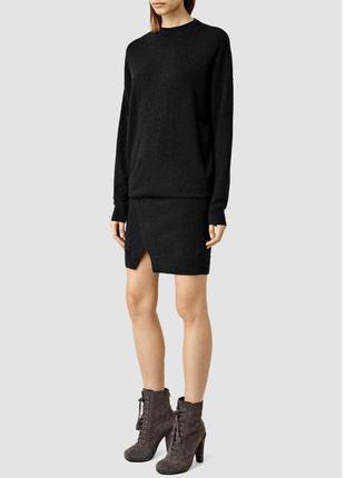 Теплое шерстяное кашемировое платье, натуральная шерсть кашеми...